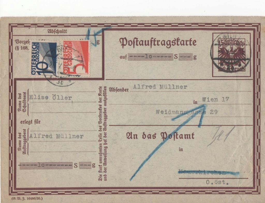 Postauftragskarten Paw35110