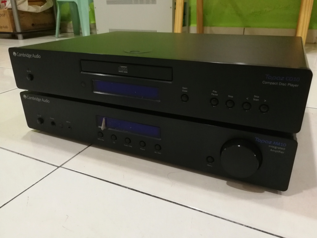 Cambridge Audio Topez AM10 Integrated Amplifier & Topez CD10 CD Player Img_2045