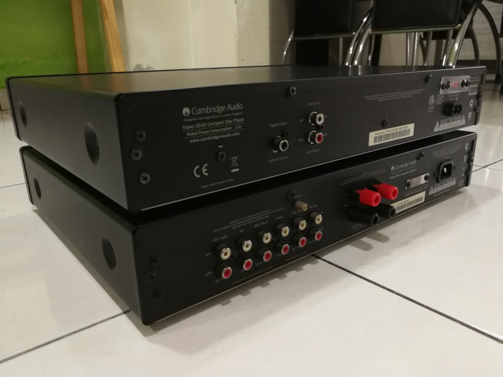 Cambridge Audio Topez AM10 Integrated Amplifier & Topez CD10 CD Player Img_2046