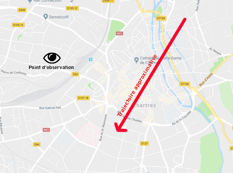 2019: le 12/04 à 21h33 - Lumière étrange dans le ciel  - MAINVILLIERS -Eure-et-Loir (dép.28) 20100410