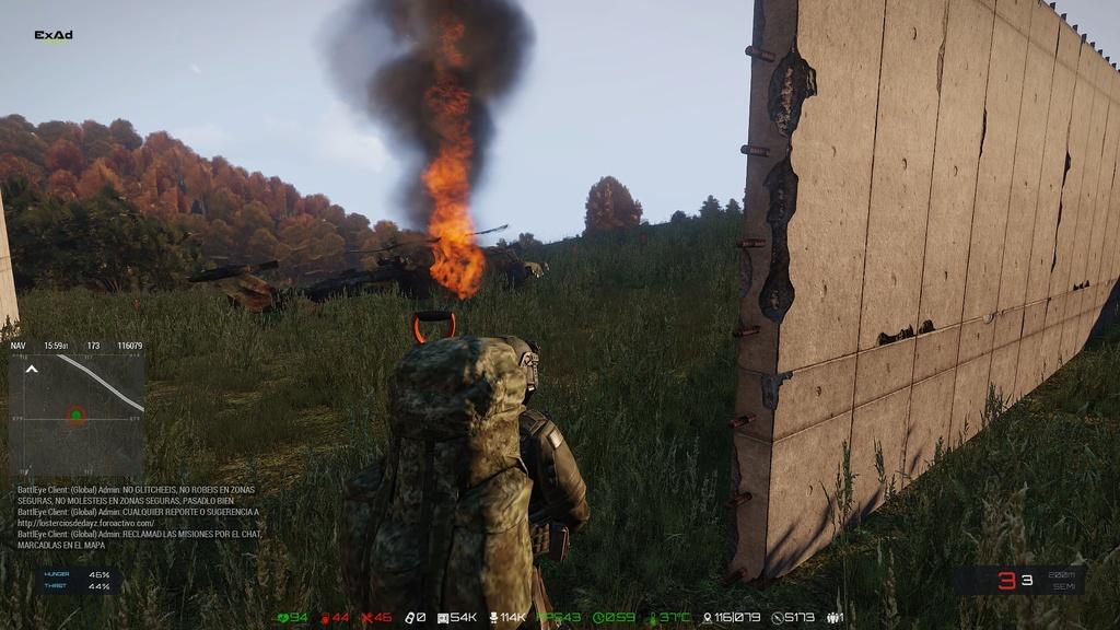 Explosión de helicóptero. 20180610