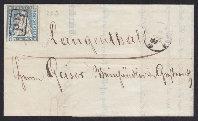 PD-Stempel auf Strubel-Inlandbrief 1856_110
