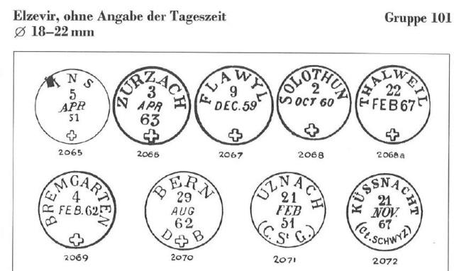 Grosses Handbuch der Abstempelungen auf Schweizer Marken (Ausgabe in 8 Ordnern) Abstem11