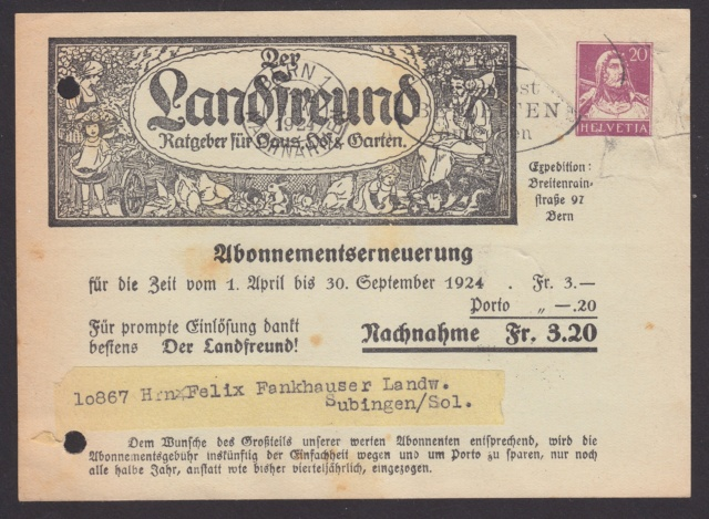 Private Ganzsachenpostkarten - Wertstempel Tellkopf/Tellbrustbild Privat11