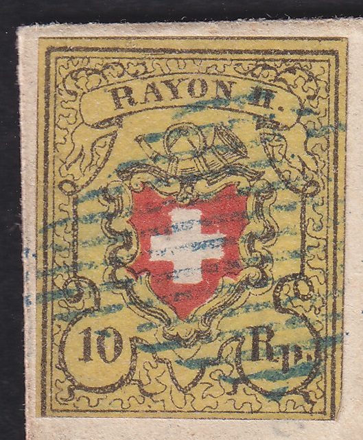 SBK 16II (Mi 8II) Bestimmung: Rayon II ohne Kreuzeinfassung Rayon_10