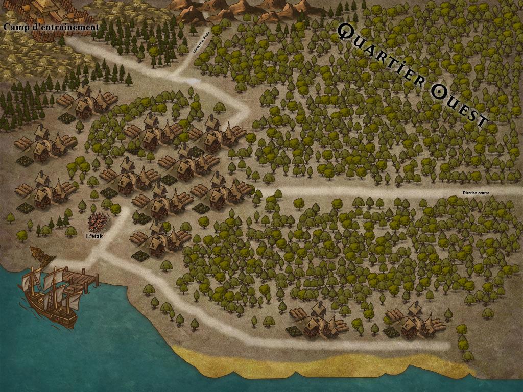Carte détaillée - Quartier Ouest Map310