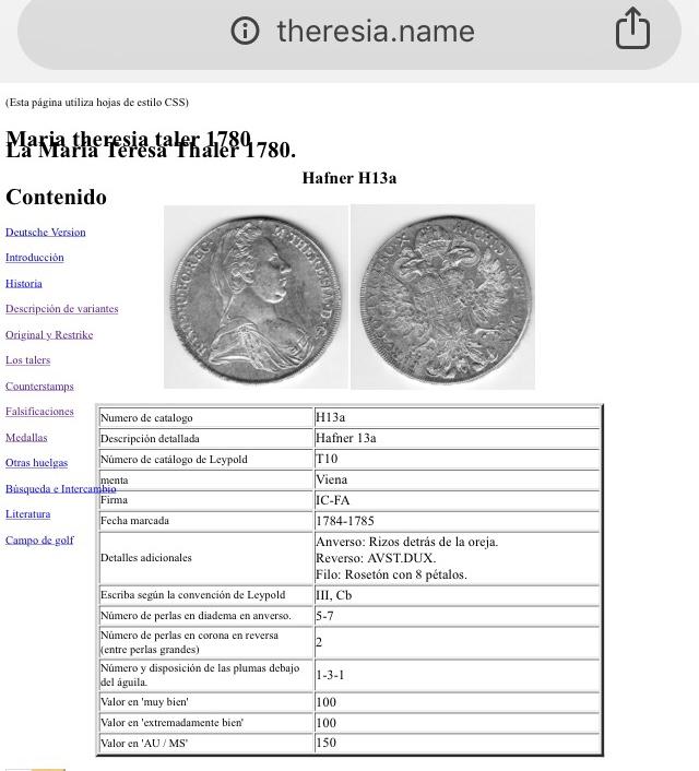 1 thaler Austria Maria theresia  69fb2c10