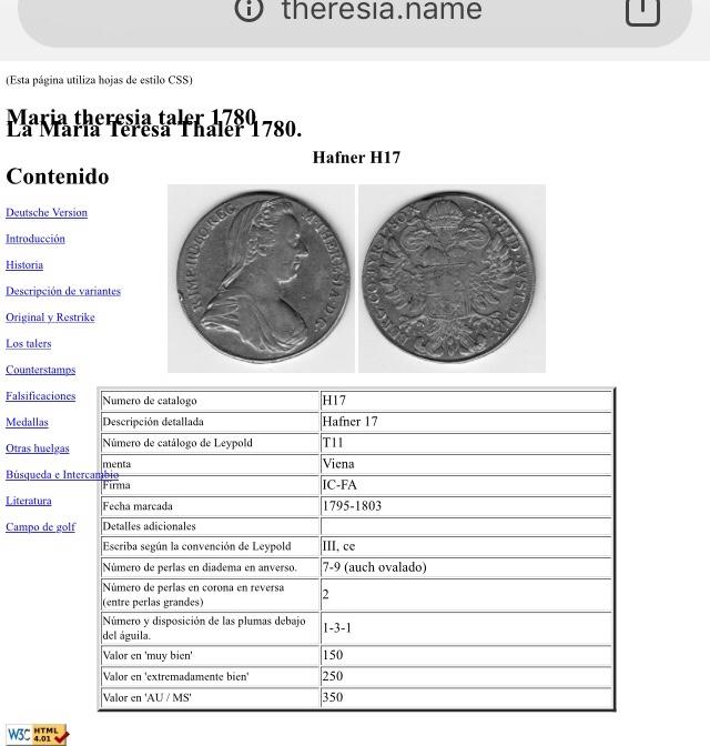 1 thaler Austria Maria theresia  F286c010