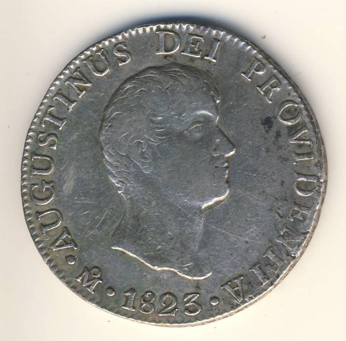 8 réales Mexique 1823 Iturbi19
