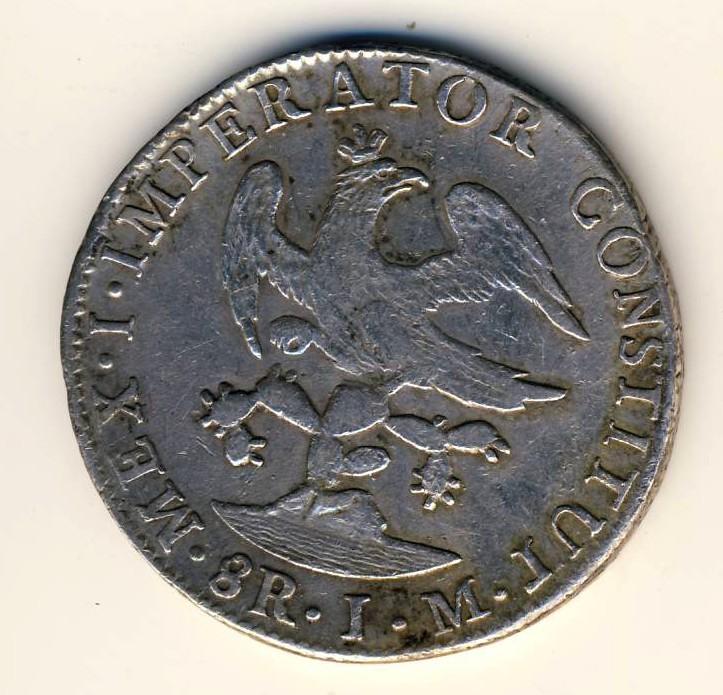 8 réales Mexique 1823 Iturbi20