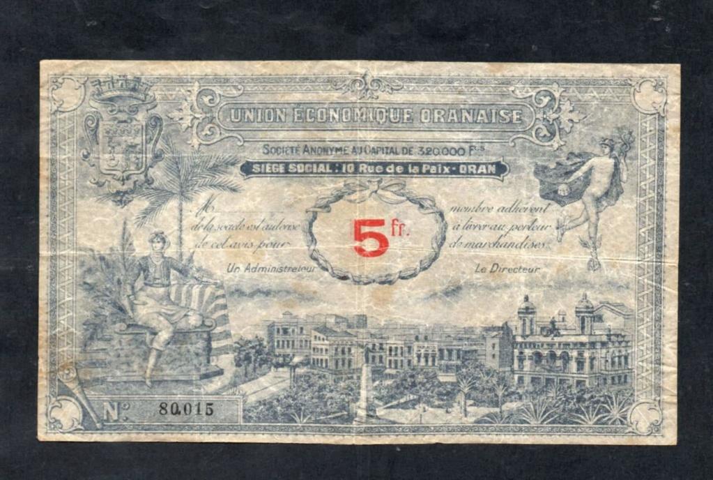 1,5 et 10 Francs Union économique oranaise et algérienne  Algérie  Receiv18