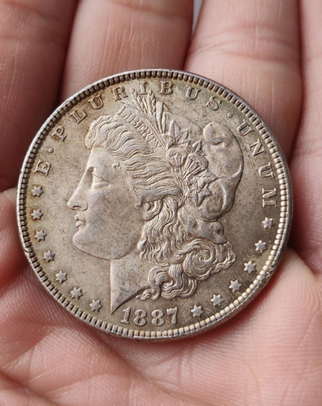 ¡¡Un clásico!! Morgan dólar 1887 Estados Unidos Img_2028