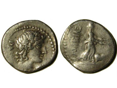 Denario de la gens Vibia. C. VIBIVS. C. F. Ceres llevando dos antorchas. Roma. Denari12