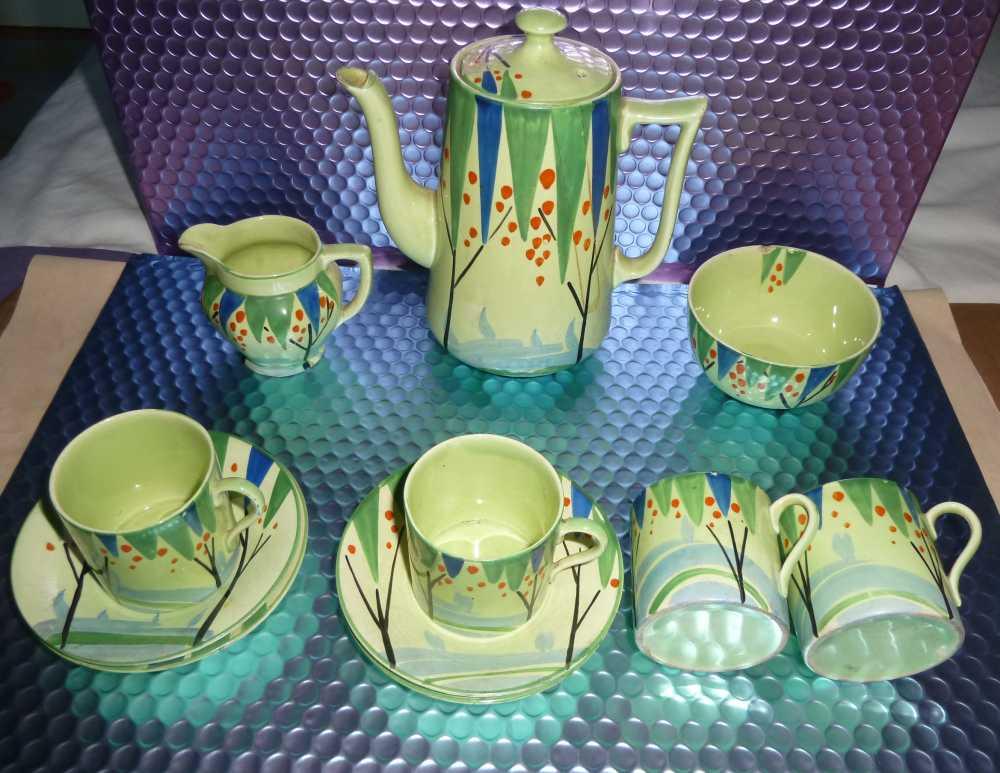 Lawleys Norfolk Pottery Stoke. Unusual Deco Coffee set. Help appreciated P1020512
