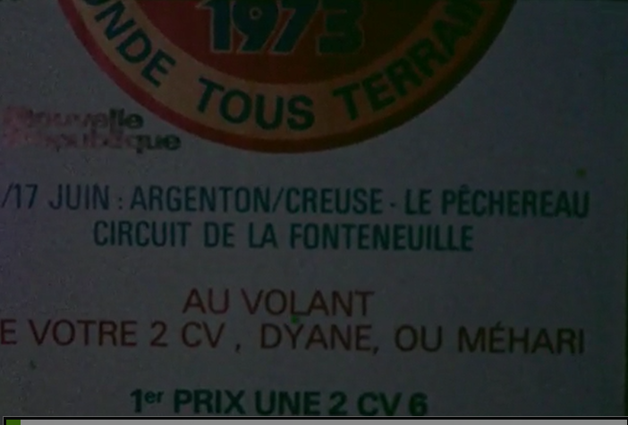 1973 : cross des 2CV et Dyane à Argenton sur Creuse  Captu146