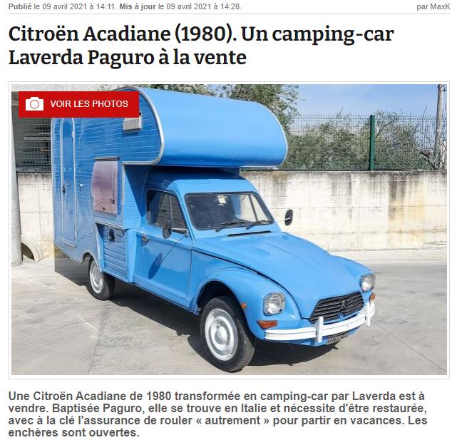 L'Acadiane camping-car est à vendre ! Captu148