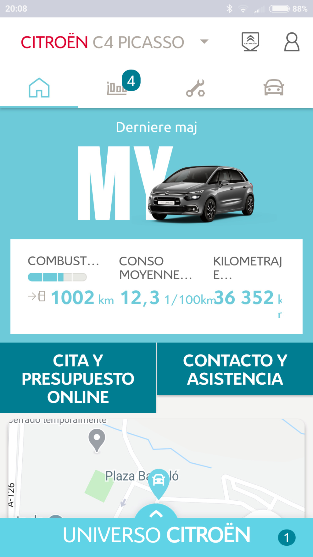 Fallo aplicación My Citroën al comenzar Pantal10