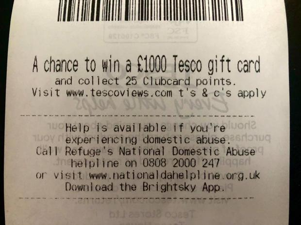 Tesco reveals its hidden message to shoppers on receipts 10649310