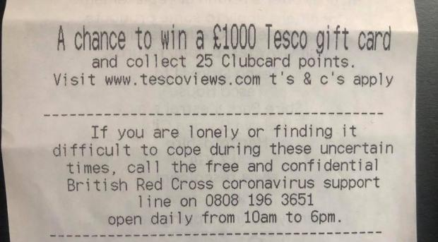 Tesco reveals its hidden message to shoppers on receipts 12651010