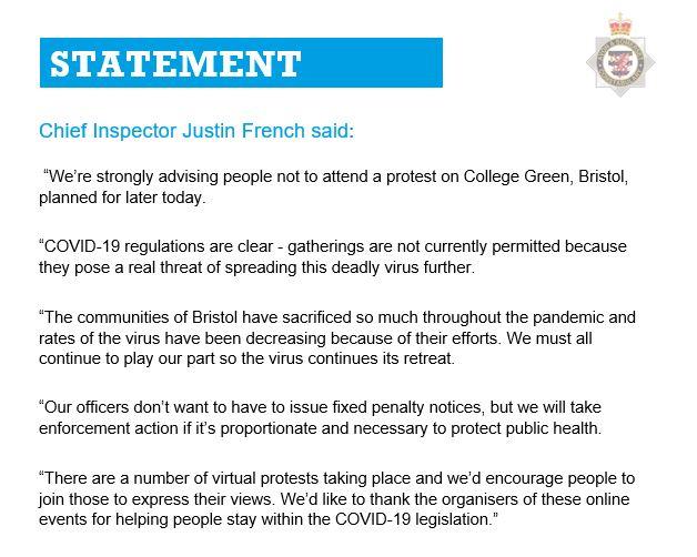 Bristol protest: Police attacked as 'Kill the Bill' demo turns violent Ew_sdz10