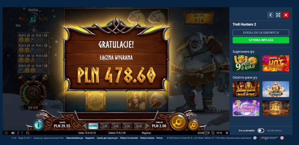 Screenshoty naszych wygranych (minimum 200zł - 50 euro) - kasyno - Page 9 Trolli10