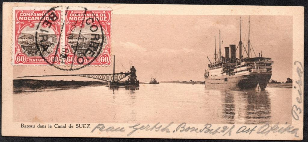 Suez Canal postcard  Bateau11