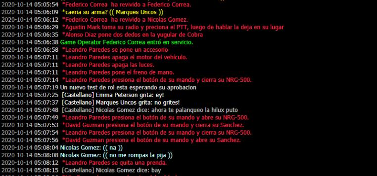 [Reporte] Nicolas Gomez (RK + NIP + NRE + Ilegalidad sin permiso de staff) No_rol10