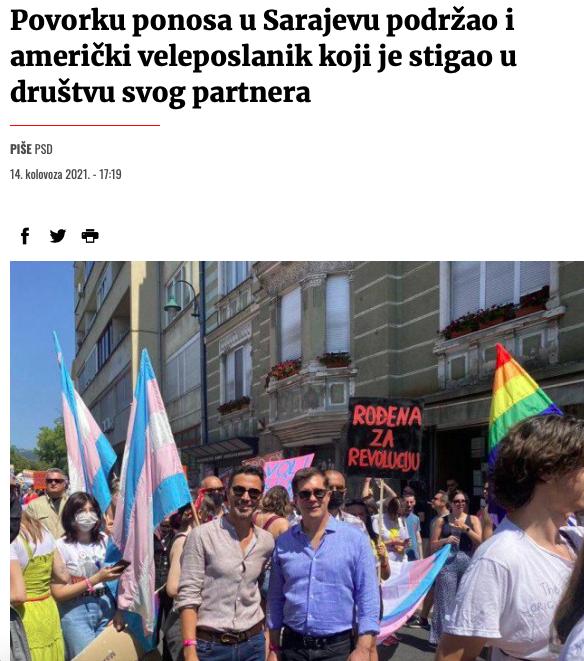 Američka Ambasada u Sarajevu digla ratnu zastavu Slika138