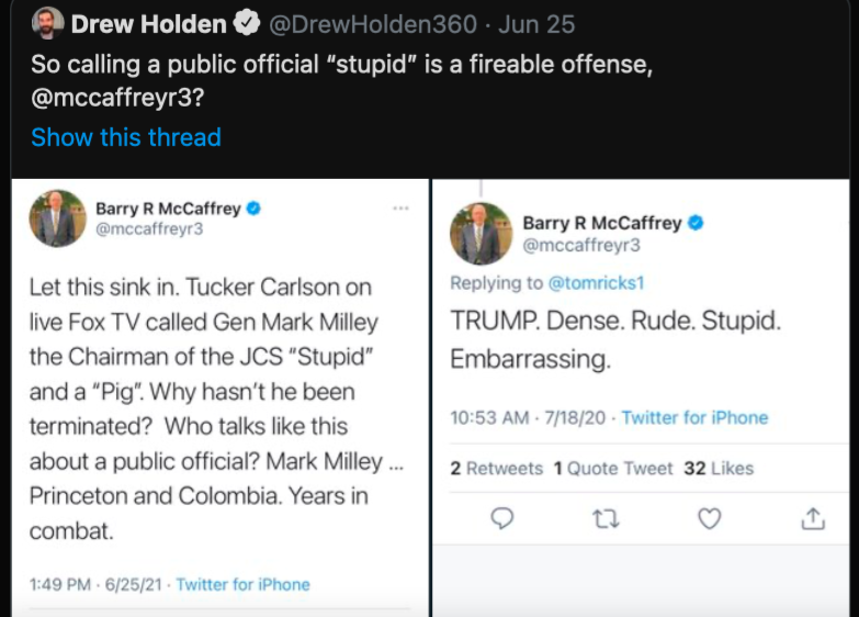 Umirovljeni Američki general na twitteru pozvao na likvidaciju Tuckera Clarlsona Slika_91