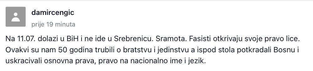Zvizdić: Milanović je desničarski provokator, vrijeđa žrtve genocida Slika_96