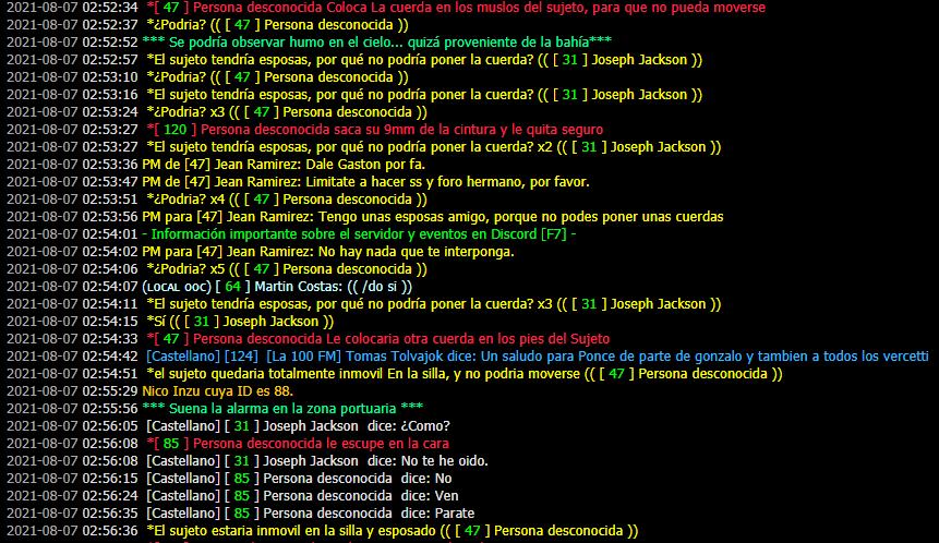 [Reporte] Jean Ramirez | Forzar Rol | PG | Evadir Rol | Mal usar /pm | Mal uso de /me | DM Prueba29