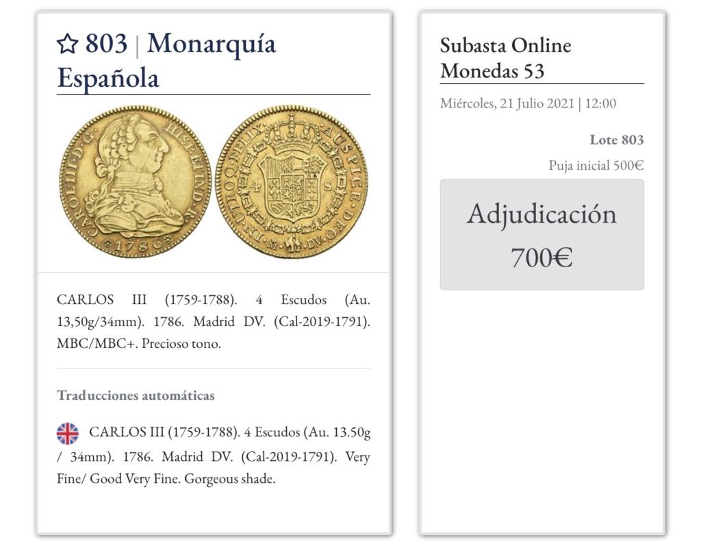SUBASTA IBERCOIN MONEDA 4 ESCUDOS CARLOS III Bbdb2910