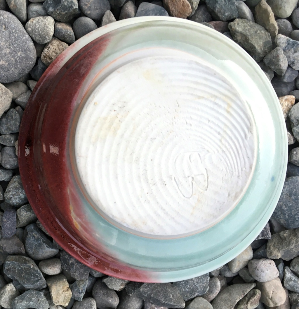 Thrown studio bowl initials EB Bowl_310