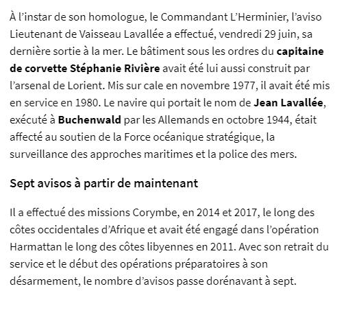 LIEUTENANT DE VAISSEAU LAVALLÉE (AVISO) - Page 4 2018-011