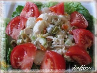 Salade persane au poulet, cornichons et olives Salade10