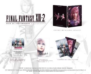Préco final fantasy XIII-2 edition simple, collector et cristal Ffxiii14