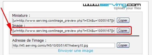 Aide : Comment insérer une image Servim13