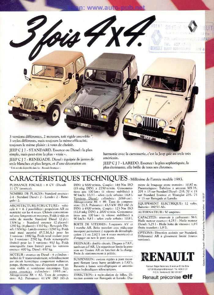 Jeep CJ7: différences entre versions - Page 2 Laredo17