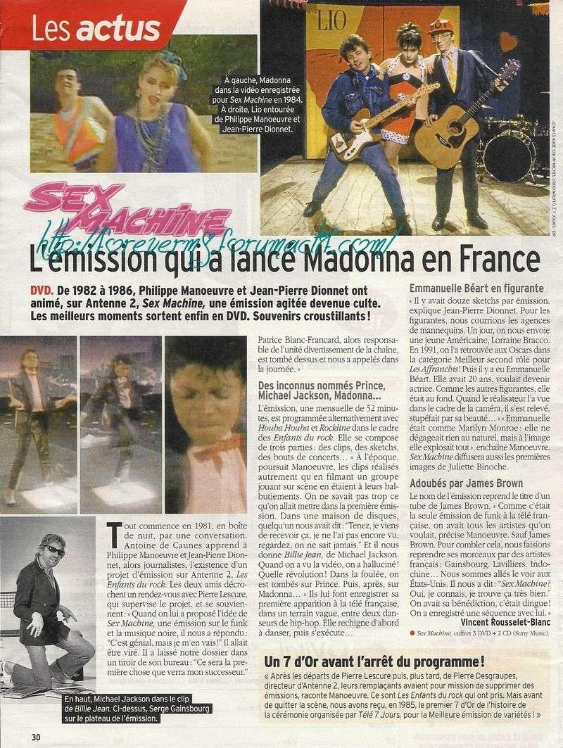 Sex Machine, l'émission qui a lancé Madonna en France 10210