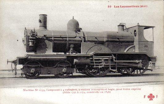 Les Locomotives à Vapeur de la Compagnie du Midi 175311