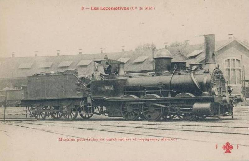 Les Locomotives à Vapeur de la Compagnie du Midi 614c10