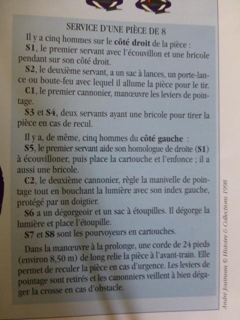 Fonctionnement d'une batterie de 8 française Pieced10