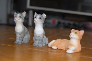 animaux en résine (chien, chat, écureuil, hibou)+ licorne en je sais pas quoi, pour facture de Cassy Dsc_0633