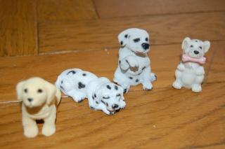 animaux en résine (chien, chat, écureuil, hibou)+ licorne en je sais pas quoi, pour facture de Cassy Dsc_0634