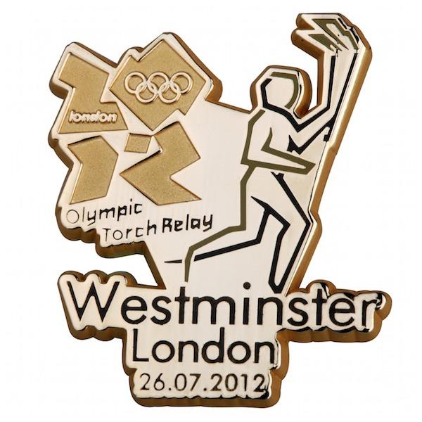 Pin's Londres 2012 - Relayeurs de la Flamme Olympique 199010