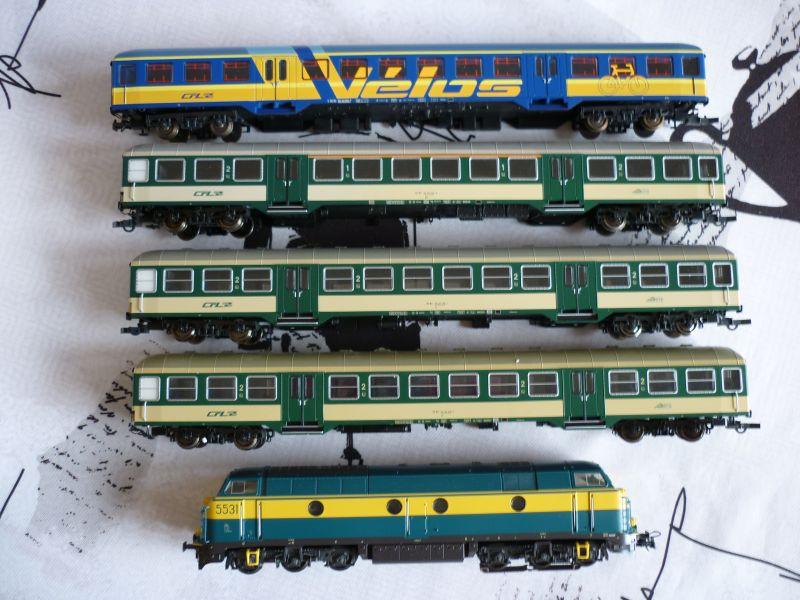Les compositions voyageurs sur la Ligne du Nord 1980 -2011 en H0 P1020626
