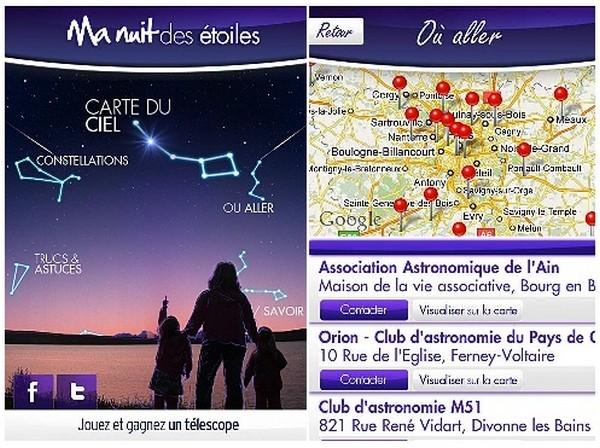 EVENEMENTS AUTOUR DE L'ASTRONOMIE Appli10