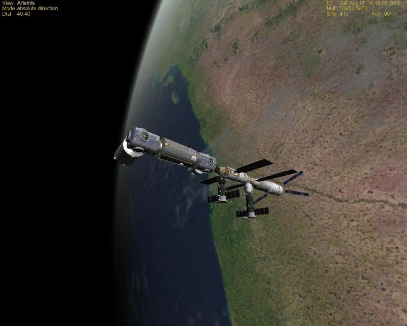 mon ISS sur Orbiter Iss10
