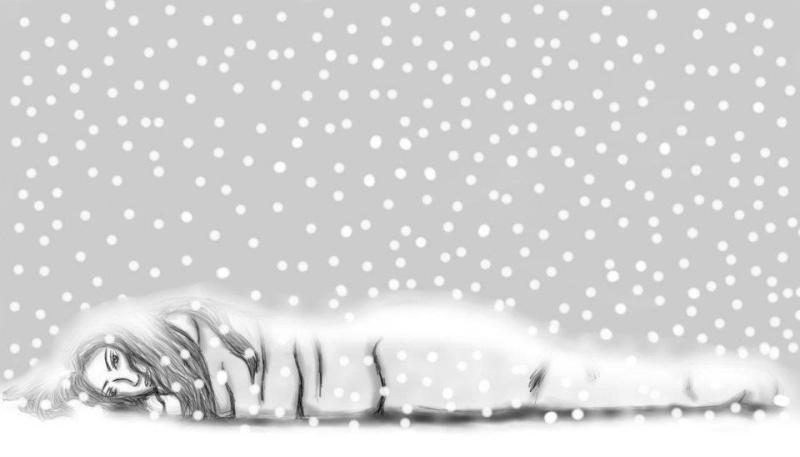 femme sous la neige 29971710