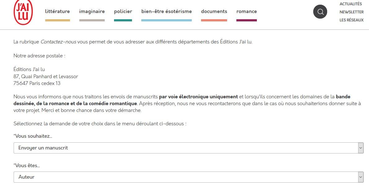 Envoi manuscrit aux éditions J'ai lu Sans_t21